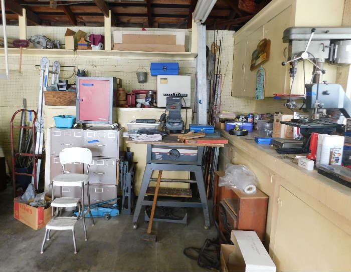 PACKARD Press Drill and CRAFTSMAN Table Saw