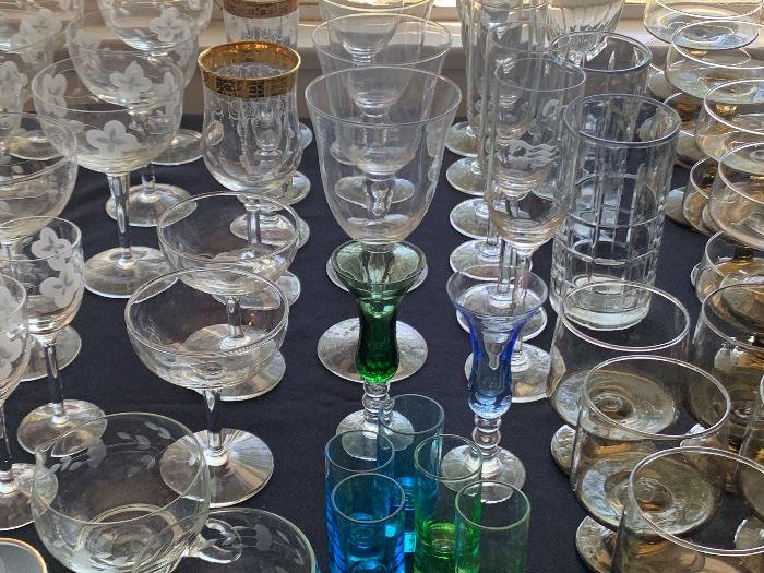Vintage & newer glassware.