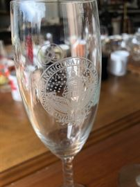 Champagne flutes from Obama's 2009 inauguration in Washington