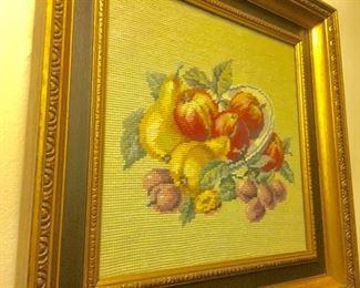 Fabric fruit art work