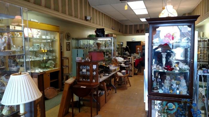 A view of the shop showing some of the Display Cabinets