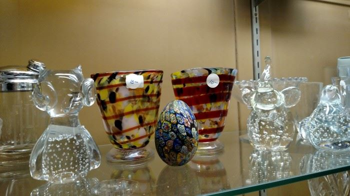 Crystal Animals and Art Glass Vases