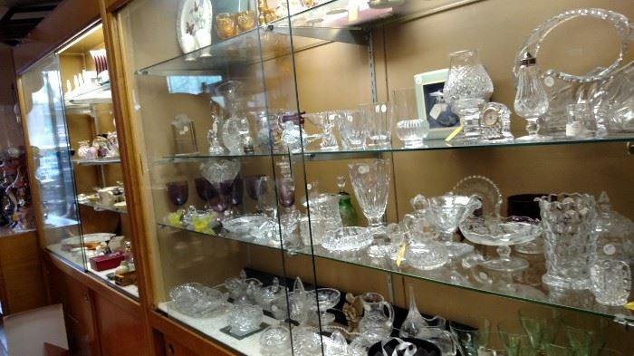 Lots of Crystal and Cut Glass still available