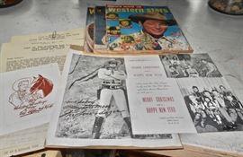 Roy Rogers Plus Vintage Paper + Autograph