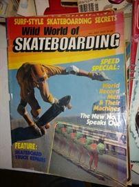 Vintage skateboarding magazines.