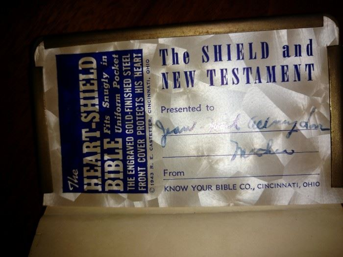 Soldiers shield Bible