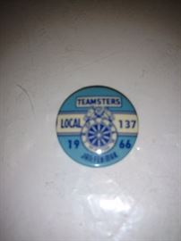 Teamster pin back button