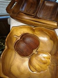 Teak wood dishes