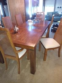 Drexel Heritage pecan wood dining table