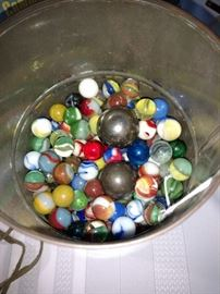 Can of marbles