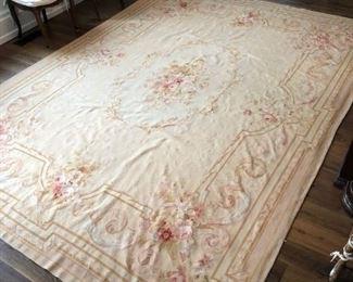 Antique aubusson area rug