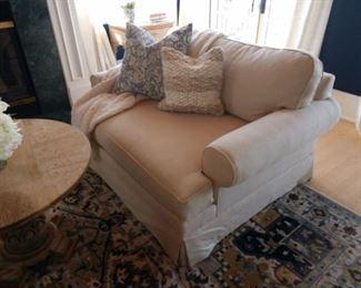 2 Mitchell Gold custom chair 1/2 sleeper chairs