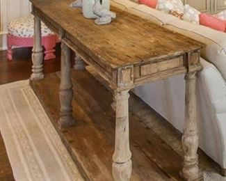 2 console tables