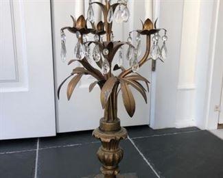 Antique candelabra lamp