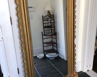 Antique guilded floor mirror