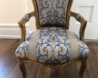 Antique french chair newly upholstered