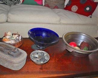 Assorted Decorative Items - Bowls