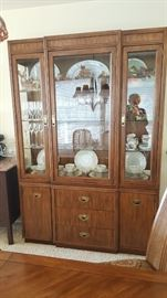 Drexel Oak Hutch $300 Excellent Condition - Light inside works.