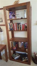 Oak bookshelf - $50