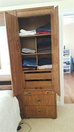 Headboard side cabinet