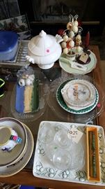 Dishes, kitchen ware and antiques