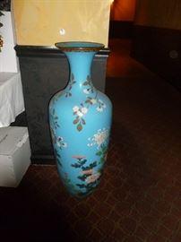 Old huge cloisonne vase