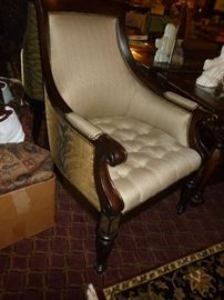 Awesome Chairs w/Animal Print on outer side (one of pair)