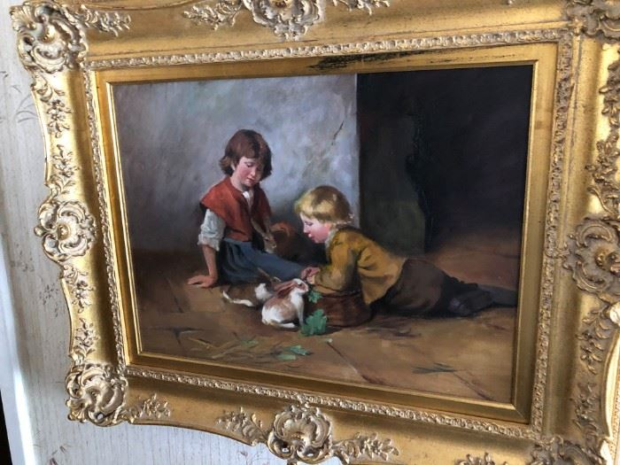 SIGNED NOTED ARTIST RON BALABON OIL PAINTING - ONE OF SEVERAL