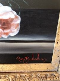 SIGNATURE OF RON BALABON IN LOWER RIGHT CORNER OF OIL PAINTING