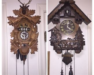 German Black Forest Cuckcoo clocks