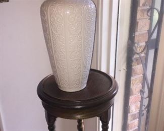 "we have a PAIR of these Royal Bavarian German porcelain vases and a pair of these ""Barley Twist"" fern stands"