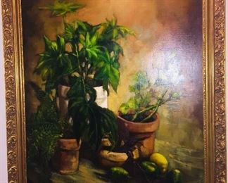 very large original oil on canvas by noted Louisiana artist Carl Groh