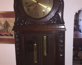one of two early tall case clocks that work!
