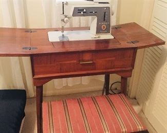 Singer Touch and Sew machine in nice cabinet