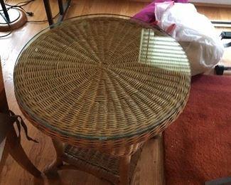 wicker table