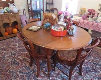 Country Primitive Farm Table w 1 Leaf Drop Sides