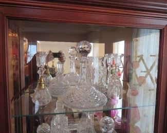 Waterford Ships Decanter, Perfume, Toothpick