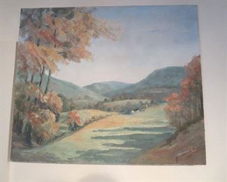 Circa 1950s Anna belle Ford Oil Painting