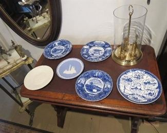 Collection of Blue and White Plates,