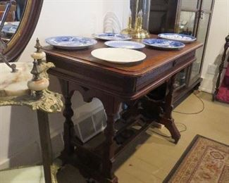 End of Victorian Library Table