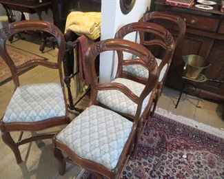 Set of 4 Victorian Balloon Back Chairs