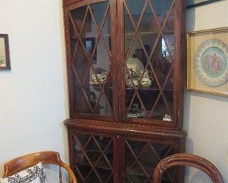 Super 1790-1820 English Regency Corner Cabinet