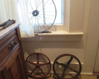 Old Fly Wheel and Pully,