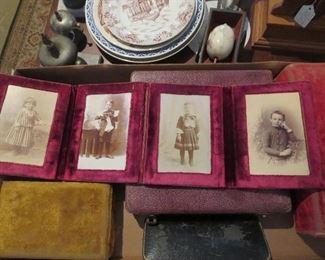 Velvet Frame with Victorian children Fold Out