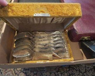 Set of Sterling Spoons in Velvet Presentation Box