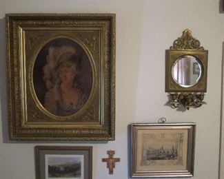Super Victorian Frame with Great Lady Lithograph