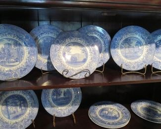 Collection  of 12 University of Michigan U of M Plates Dated 1928 Complete Set Rare to find all at one time