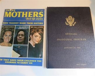 Original Official Program Kennedy Inaugural book, Magazine Three Mothers and Their Stores