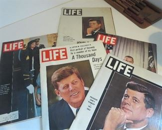 Collection of Life Magazines of JFK