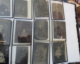 Collection of Tin Type Photos